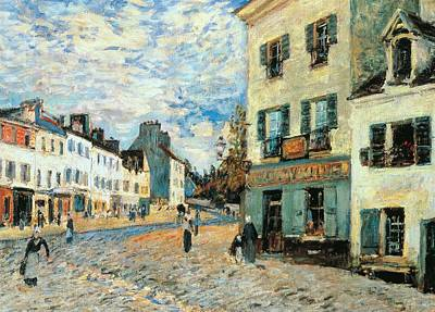 Residential Painting - Road To Marly by Alfred Sisley