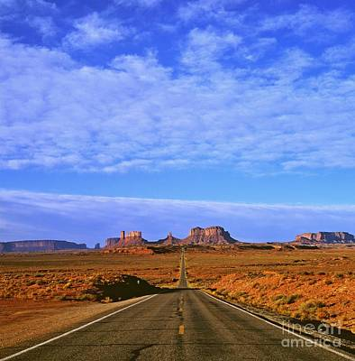 Road To Monument Valley Art Print by Alex Cassels