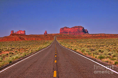 Photograph - Road To Monument Valley 4 - Route 163 by Allen Beatty