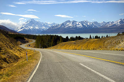 Photograph - Road To Mount Cook by Ng Hock How