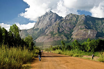 Walking Photograph - Road To Mount Mulanje by Colin Carmichael