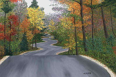 Pastel - Road To Northport by George Burr