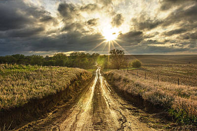 Gravel Road Photograph - Road To Nowhere by Aaron J Groen