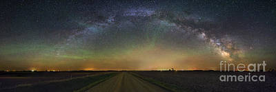 Photograph - Road To Nowhere   Air Glow by Aaron J Groen