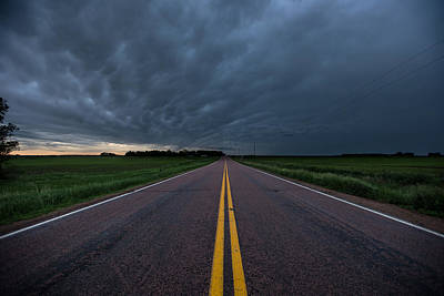 Photograph - Road To Nowhere Storm Chase by Aaron J Groen