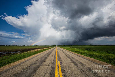Photograph - Road To Nowhere  Supercell by Aaron J Groen