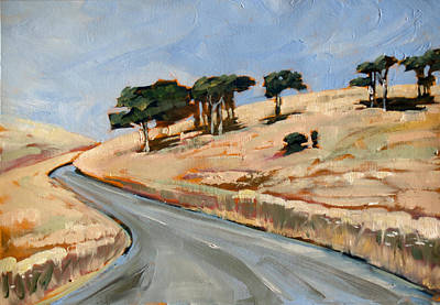 Aotearoa Painting - Road To Okains Bay by Linelle Stacey