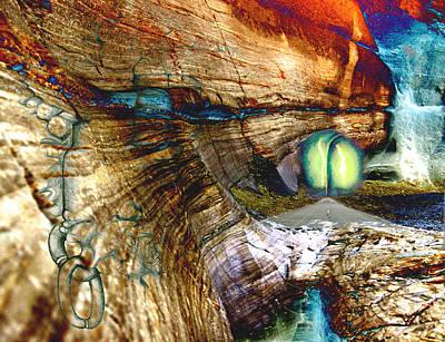 Death Valley Mixed Media - Road To Rainbow by Sinisha Glisic