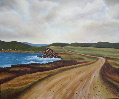 Road To Recovery Aka Cheticamp Ns Art Print by Sharon Steinhaus