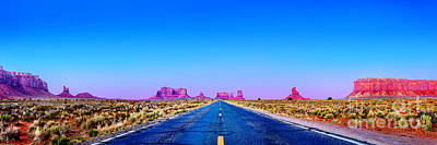 Sky Blue Photograph - Long Road To Ruin by Az Jackson