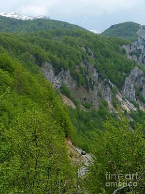 Photograph - Road To Savnik - Montenegro by Phil Banks