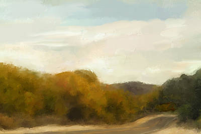 Landscape Painting - Road To Somewhere by Karen Sperling