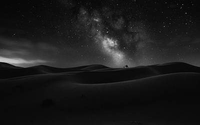 Camel Wall Art - Photograph - Road To Stars by Jorge Ruiz Dueso