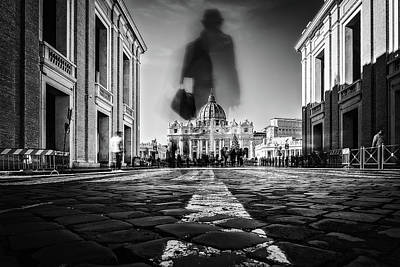 Church Architecture Photograph - Road To St.peter by Massimiliano Mancini