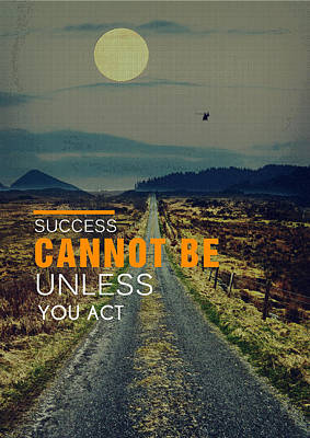 Road To Success Art Print by Celestial Images