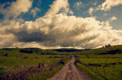 Sonoma County Mixed Media - Road To The Clouds. by John K Woodruff
