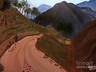 Painting - Road To The Hills II by Pratyasha Nithin