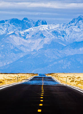 Yellow Photograph - Road To The Mountains by Alexis Birkill