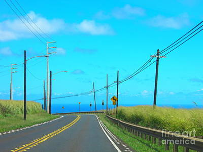 Haleiwa Digital Art - Road To The North Shore by Dorlea Ho