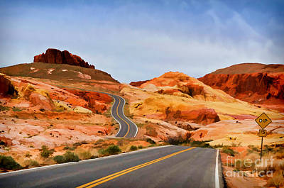 Photograph - Road To The Top - Painterly Style - Version 2 by Les Palenik