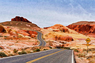 Photograph - Road To The Top - Painterly Style - Version 3 by Les Palenik