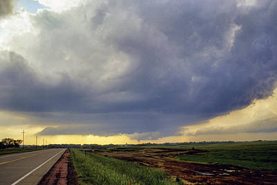 Photograph - Road To The Tornado - Woonsocket South Dakota by Jason Politte