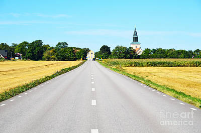 Photograph - Road To The Village by Kennerth and Birgitta Kullman