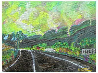 Eco-tourism Painting - Road To Tombo Town 03 by Mudiama Kammoh