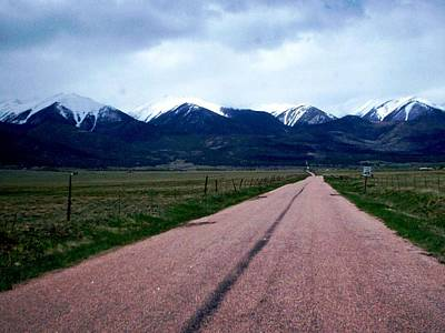 Road To Westcliffe Art Print by Carlee Ojeda
