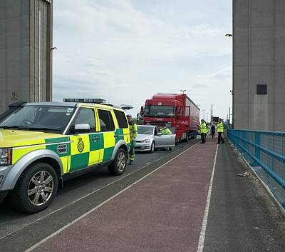 Ambulance Photograph - Road Traffic Accident by Robert Brook