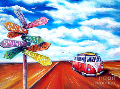 Painting - Road Trip by Deb Broughton
