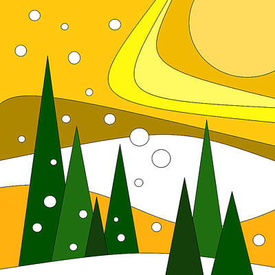Road Trip Vi - Snow And Sun Art Print