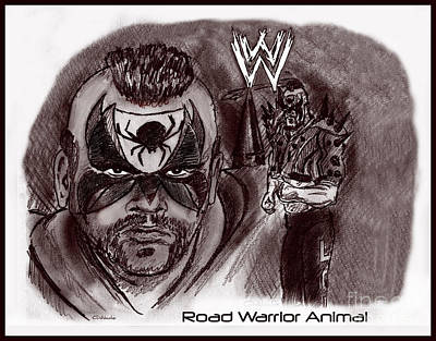 Drawing - Road Warrior Animal by Chris  DelVecchio