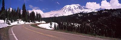 Road With A Mountain Range Art Print