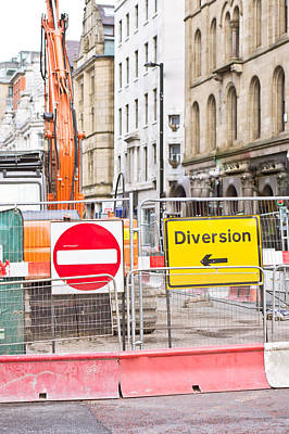 Traffic Signs Photograph - Road Works  by Tom Gowanlock