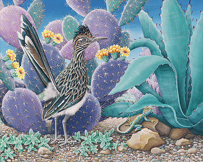 Painting - Roadrunner by Tish Wynne
