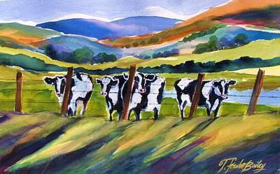 Roadside Cows Near San Luis Art Print by Therese Fowler-Bailey