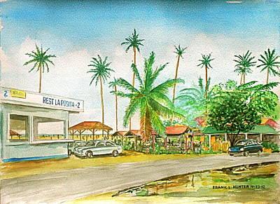 Roadside Food Stands Puerto Rico Art Print by Frank Hunter