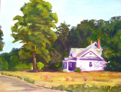 Side Porch Painting - Roadside Home by Jami Burns