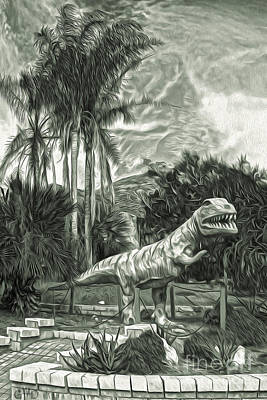 Painting - Roadside Raptor - In Duotone by Gregory Dyer