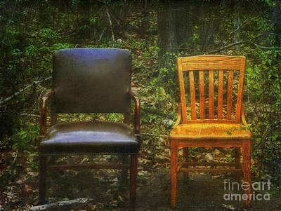 Photograph - Roadside Seating by Debra Fedchin