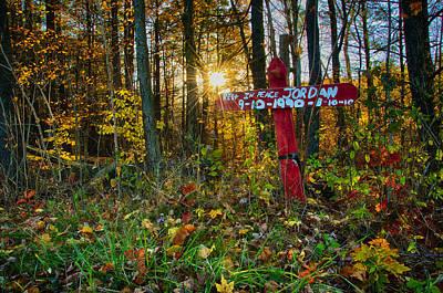 Photograph - Roadside Shrine by Steven Mancinelli