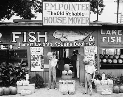Photograph - Roadside Stand Near Birmingham Alabama by Historic Photos