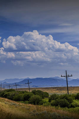 Southern Rocky Mountains Photograph - Roadside View Along A Montana Road Highway by Randall Nyhof