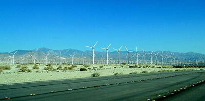 Photograph - Roadside Wind Farm by Randall Weidner