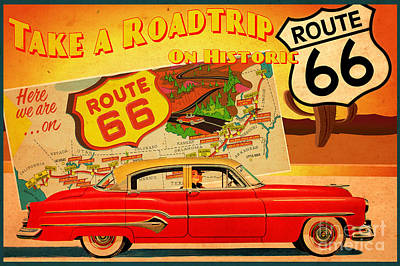 Roadtrip Art Print by Cinema Photography
