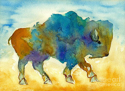 Painting - Roaming Buffalo by Nan Wright