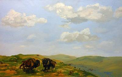 Painting - Roaming The Prairie Bluffs by Rick Carbonell
