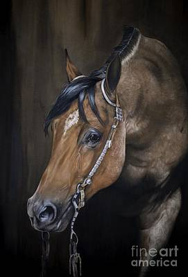Western Pleasure Horse Pastel - Roanie by Joni Beinborn