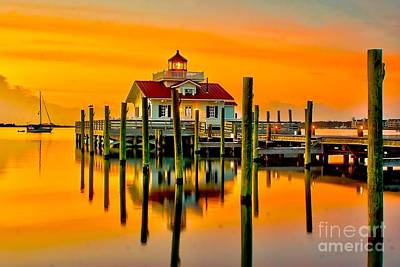 Roanoke Lighthouse Dawn Art Print by Nick Zelinsky